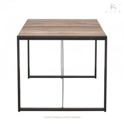Table à manger en bois et métal 160x90 Industry