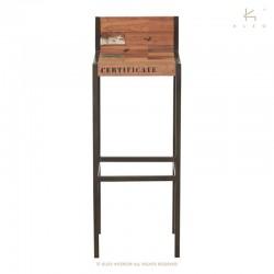 Chaise haute en bois et métal Samudra