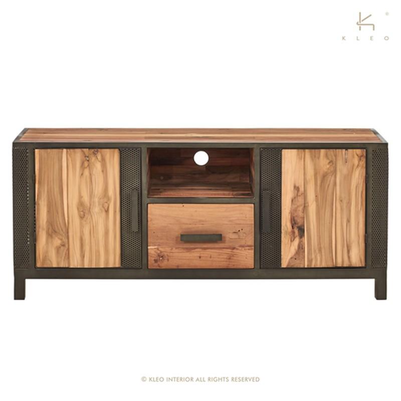 Meuble TV en bois et métal 140 Chic
