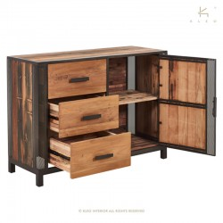 Buffet en bois et métal 120 Chic