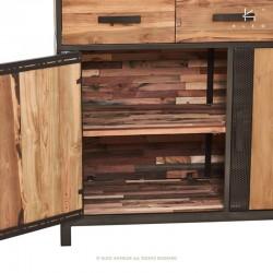 Armoire en bois et métal 130 Chic