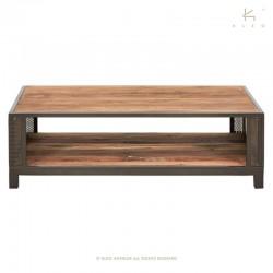 Table basse en bois et métal 115x65 Chic