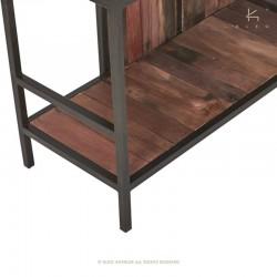 Étagère bois et métal 110 Malaga