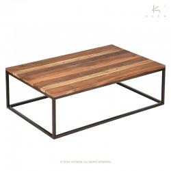 Table basse rectangle bois et métal 110x70 Malaga