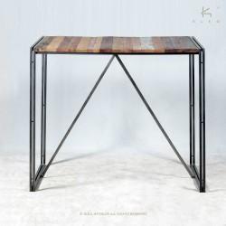 Table bar en bois et métal 80x80 Industry