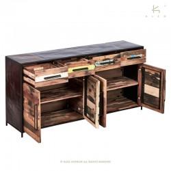 Buffet en bois et métal 180 Kleo