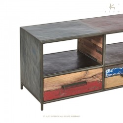 Meuble TV en bois et métal 160 Kleo