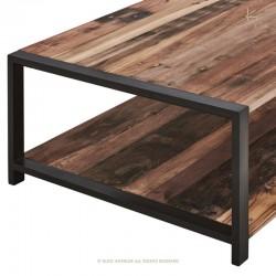Table basse bois et métal 110x70 New York