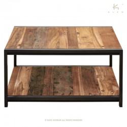 Table basse bois et métal 80x80 New York