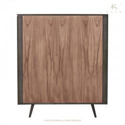 Armoire 2 portes bois et métal 130 Nordik