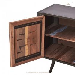 Meuble TV bois et métal 200 Nordik