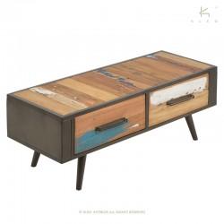 Meuble TV avec tiroirs bois et métal 120 Nordik