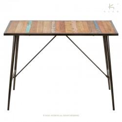 Table bar bois et métal 150x80 Nordik