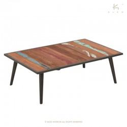 Table basse bois et métal 110x70 Nordik