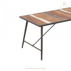 Table à manger bois et métal 180x90 Nordik