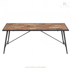 Table à manger bois et métal 200x100 Nordik