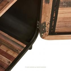 Armoire bois et métal 55 Fifties
