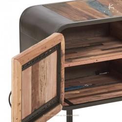 Meuble TV bois et métal 160 Fifties