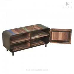 Meuble TV bois et métal 120 Fifties