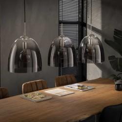 Suspension en verre soufflé 3 ampoules