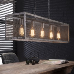 Suspension style industriel moderne 5 ampoules