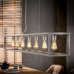Suspension structure en métal style industriel 7 ampoules