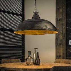 Suspension demi-cercle en métal style industriel 1 ampoule