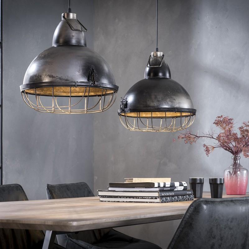 Suspension spot en métal style industriel 2 ampoules