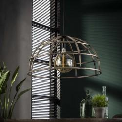 Suspension demi-cercle en métal de style industriel 1 ampoule