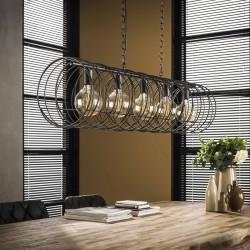 Suspension forme spirale en métal de style industriel 5 ampoules