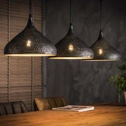 Suspension forme entonnoir en métal de style moderne 3 ampoules