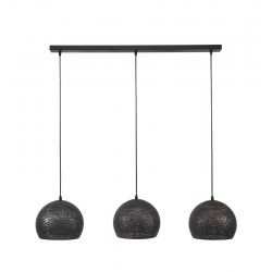 Suspension ronde en métal de style moderne 3 ampoules