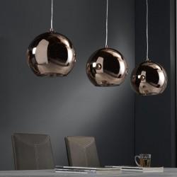 Suspension ronde en cuivre de style rétro vintage 3 ampoules