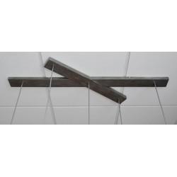 Suspension cinq abat-jours demi-cercle effet miroir à l'intérieur de style industriel moderne