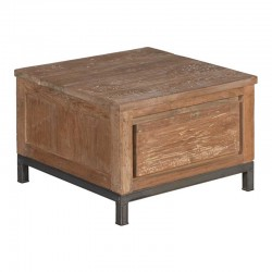 Table basse 1 tiroir en teck 60 Venise