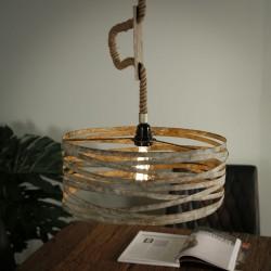 Suspension un abat-jour cylindrique de style industriel