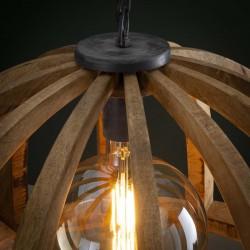 Suspension demi-cercle en bois de manguier de style contemporain