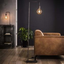 Lampadaire d'intérieur en métal recourbé de style industriel