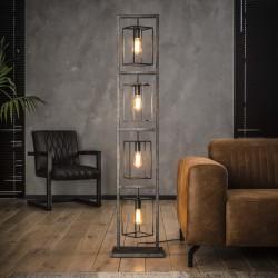 Lampadaire cubique en métal de style industriel