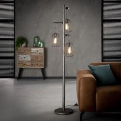 Lampadaire gouttes suspendues en métal de style industriel 3 ampoules