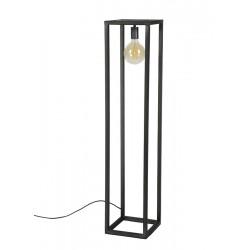 Lampadaire  structure en métal rectangulaire de style industriel