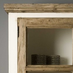 Armoire vitrine en pin 120 Amando