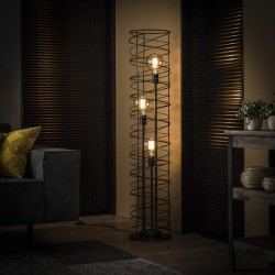 Lampadaire 3 ampoules structure cylindrique style...
