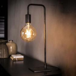 Lampe de table une ampoule suspendue barre de métal recourbée style industriel