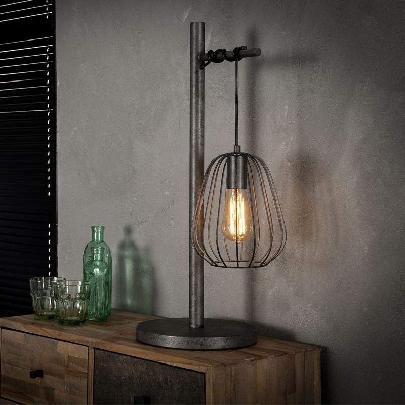 Lampe de table cage de métal suspendu à structure en métal de style industriel vintage