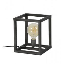 Lampe de table ossature en métal rectangulaire de style industriel