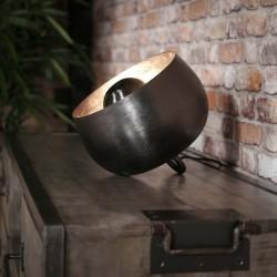 Lampe de table rond ouvert en métal sans pied de style contemporain