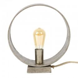 Lampe de table rond ouvert sur socle rectangulaire de style moderne