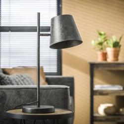 Lampe de table un abat-jour spot en métal monté sur une barre de style industriel