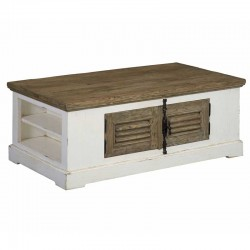 Table basse 4 portes en pin 135 Amando